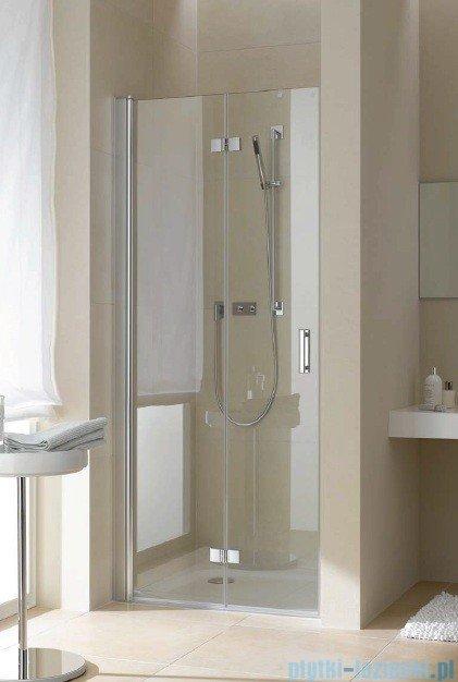 Kermi Diga Drzwi wahadłowo-składane, lewe, szkło przezroczyste, profile białe 80x200 DI2DL080202AK