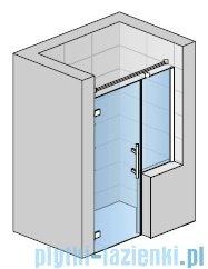 SanSwiss Pur PU31P Drzwi lewe wymiary specjalne do 160cm pas satynowy PU31PGSM21051