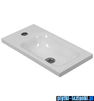 Omnires Elba Marble+ umywalka wisząca 50x25cm biała