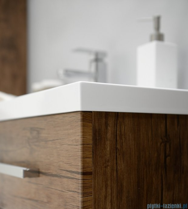 Antado Spektra szafka z umywalką, wisząca 80x39x40 stare drewno FDF-C-442/8/2GT-50 + UMMC-800x390