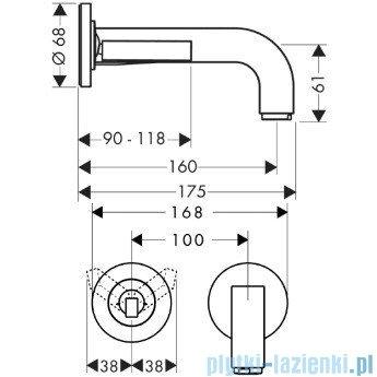 Hansgrohe Axor Citterio Jednouchwytowa bateria umywalkowa podtynkowa 39113000