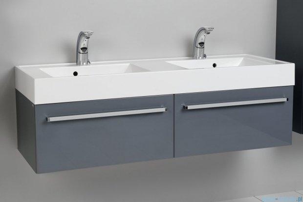 Antado Variete szafka z umywalką, wisząca 140 szary połysk FM-442/7GT-K917 + FM-442/7GT-K917 + UNAM-1404D