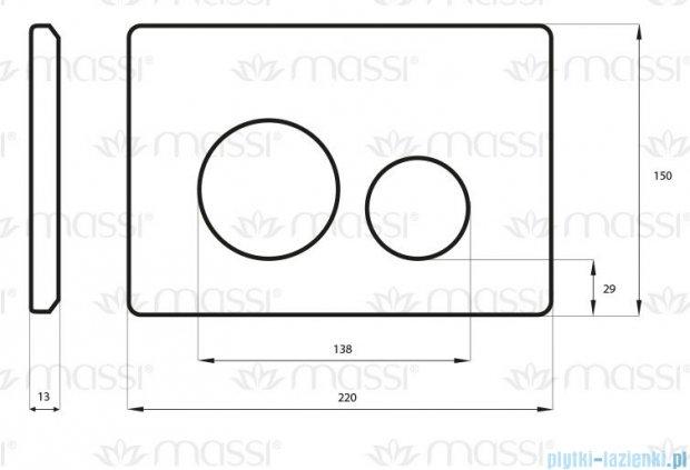 Massi Enco przycisk do stelaża WC satyna MSST-P02