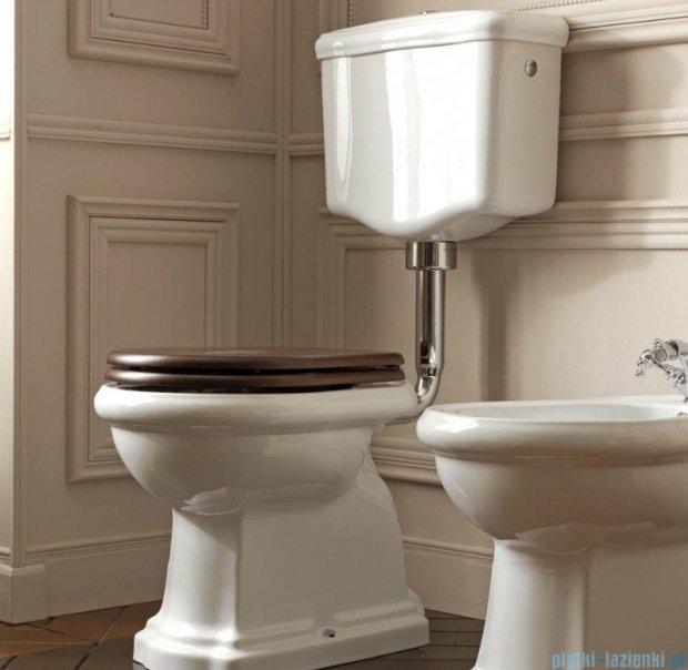 Kerasan Retro Zestaw chrom WC kompakt średni, odpływ poziomy (1011,1082,7513,7504,109001)