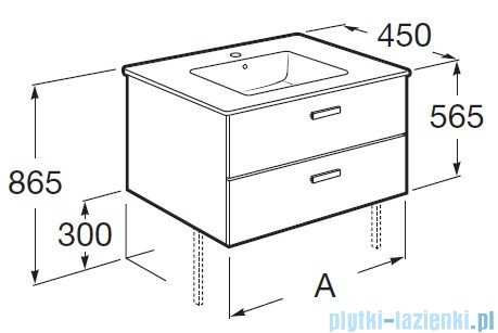Roca Victoria Basic Zestaw łazienkowy Unik umywalka z szafką 60cm biały A855884806
