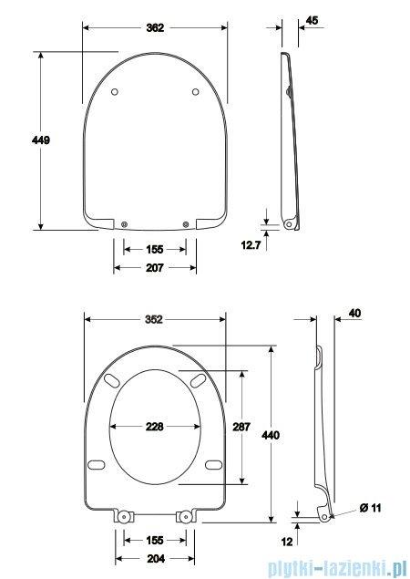 Koło Nova Pro Deska sedesowa twarda wolno opadająca M30112