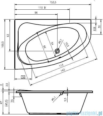 Riho Lyra wanna asymetryczna 153,5x100,5cm prawa BA67