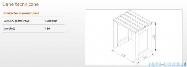 Sanplast Taboret 30x40x45cm merbau 661-A0013-20