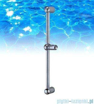 Omnires drążek prysznicowy ze stali nierdzewnej 60cm chrom DR06