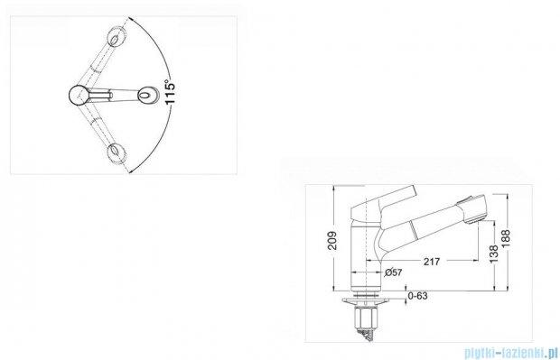 Blanco Elipso-s-f II  bateria wysokociśnieniowa kolor: chrom 514911
