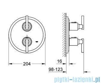 Grohe Atrio bateria termostatyczna do obsługi jednego wyjścia wody chrom 19398000