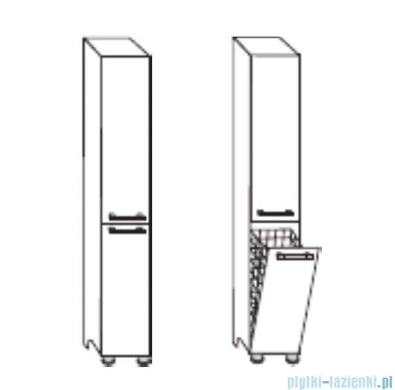 Antado Prima Słupek wysoki, stojący 30x31,4x180 biały połysk BFM-175