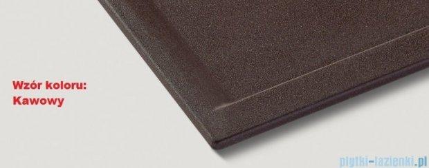 Blanco Zenar XL 6 S-F  Zlewozmywak Silgranit PuraDur komora prawa kolor: kawowy z kor. aut. i szklaną deską do krojenia 519314