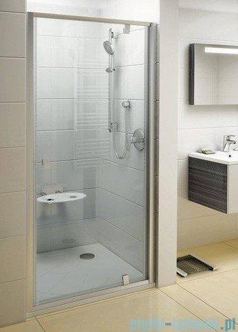 Ravak Drzwi prysznicowe obrotowe Pivot PDOP1-90 białe + chrom transparent 03G70100Z1