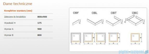 Sanplast Obudowa do brodzika OBL 80x90x17,5 cm 625-403-1320-01-000