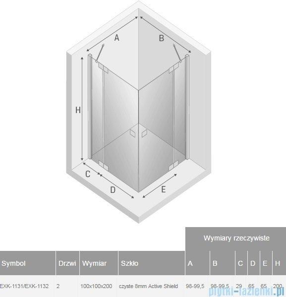 New Trendy Kamea kabina kwadratowa 100x100x200cm przejrzyste EXK-1131/EXK-1132