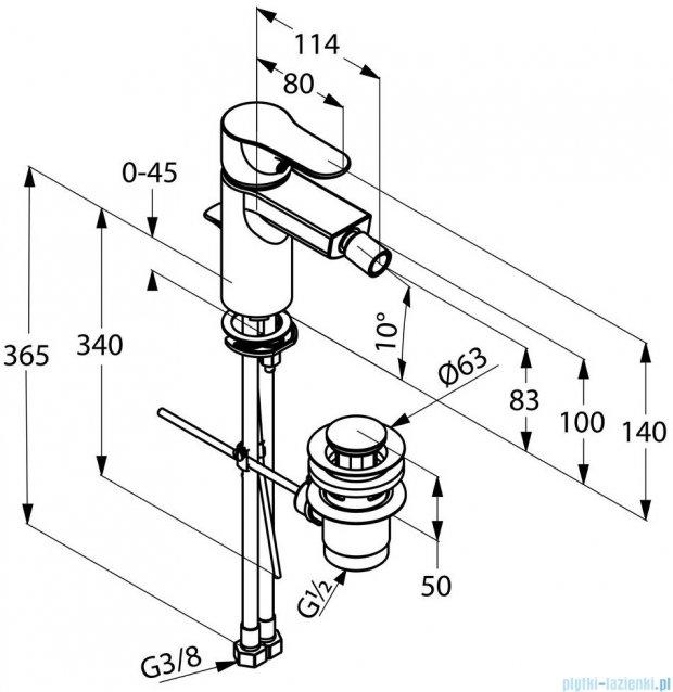 Kludi Objekta Jednouchwytowa bateria bidetowa DN 10 chrom 324160575
