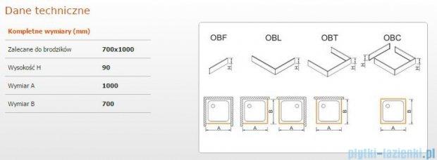 Sanplast Obudowa brodzika OBL 70x100x9 cm 625-400-1130-01-000