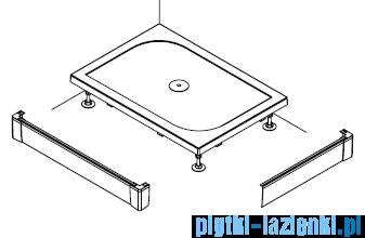 SanSwiss PWIL Obudowa do brodzika 2-stronna 80x120cm czarna PWIL08012006