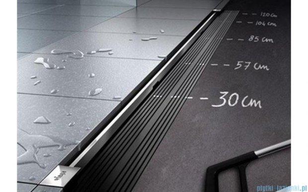 Viega Advantix Vario kompletny odpływ liniowy z rusztem o regulowanej długości 30-120cm chrom mat 686277+686284