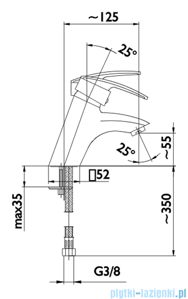 KFA RUBIN bateria umywalkowa CHROM   562-815-00