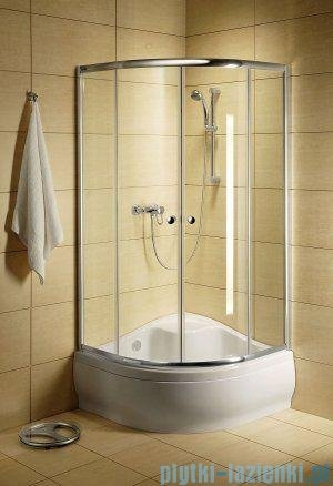 Radaway Classic A Kabina prysznicowa półokrągła z drzwiami przesuwnymi 80x80x170 szkło satinato 30011-01-02