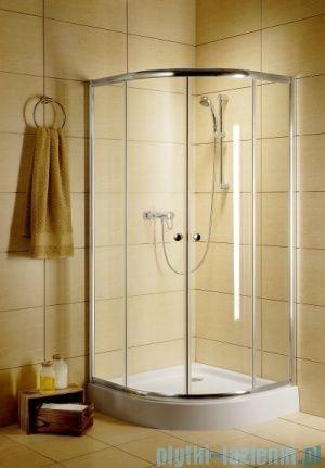 Radaway Classic A Kabina prysznicowa półokrągła z drzwiami przesuwnymi 80x80x185 szkło fabric 30010-01-06