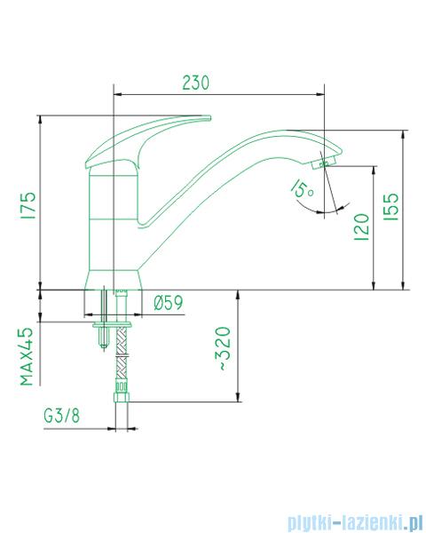 KFA AMETYST bateria zlewozmywakowa CHROM   403-915-00