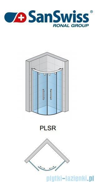 SanSwiss Pur Light S PLSR Kabina półokrągłą z drzwiami rozsuwanymi 90cm PLSR500900407