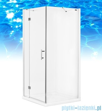 Omnires Manhattan kabina kwadratowa 3M™ Easy Clean 100x100x195cm szkło przejrzyste ADC10XLUX-T