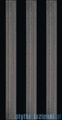 Paradyż Bellicita nero stripes inserto 30x60