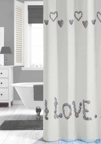 Sealskin Quore off- white zasłona prysznicowa tekstylna 180x200cm 233481310