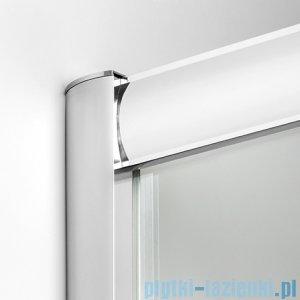 New Trendy Varia kabina prysznicowa asymetryczna 100x80x165cm szkło grafit K-0130