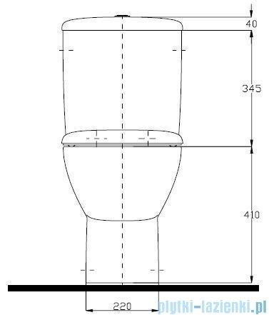 Koło Style Zestaw Wc kompakt z powłoką Reflex L29000900