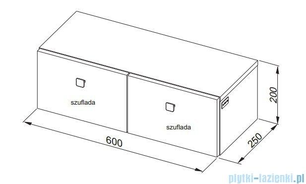 Aquaform Flex szafka wisząca z szufladami biała 0410-640104