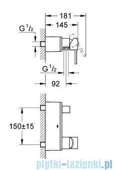 Grohe Allure jednouchwytowa bateria prysznicowa chrom 32846000