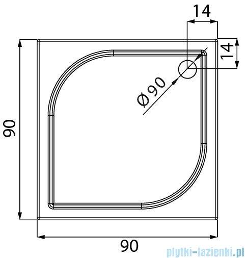 New Trendy Savos brodzik kwadratowy z konglomeratu 90x90x3 cm B-0353