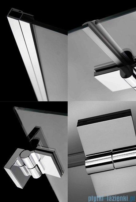 Radaway Carena DWB Drzwi prysznicowe 90 prawe szkło brązowe + brodzik Delos C + Syfon 34502-01-08NR