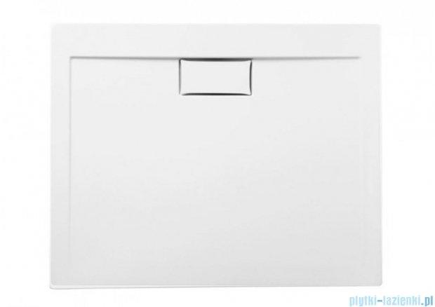 Polimat Comfort brodzik akrylowy posadzkowy 120x80 biały połysk 00842