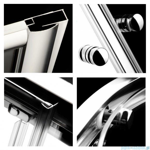 Radaway Classic A Kabina prysznicowa półokrągła z drzwiami przesuwnymi 80x80x185 szkło grafitowe 30010-01-05