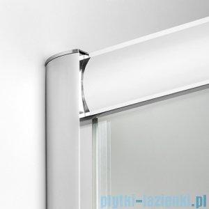 New Trendy Varia kabina prysznicowa asymetryczna 100x80x185 cm szkło grafit K-0131
