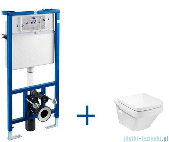 Roca Dama-n Compacto Stelaż podtynkowy Duplo+ miska WC podwieszana Dama-N  A89009000P