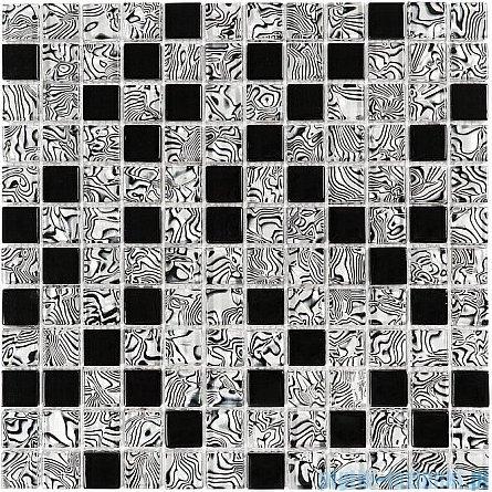 Dunin Lunar mozaika szklana 30x30 model zebra mix 23