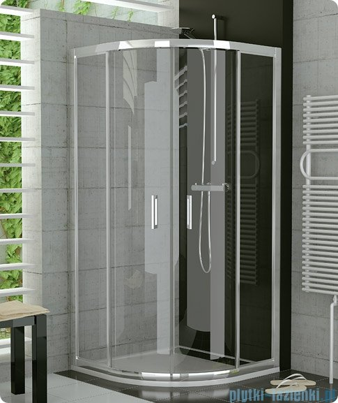 SanSwiss Top-Line TOPR Kabina prysznicowa półokrągła 100cm profil biały TOPR501000407