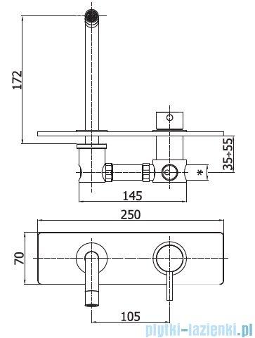 Paffoni Light bateria podtynkowa umywalkowa 17,5cm chrom LIG101CR/M