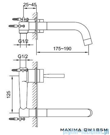 Kohlman Maxima Podtynkowa bateria umywalkowa QW185M