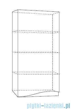 Antado Wave szafka wisząca lewa 40x20x80cm grafit mat VA-119L-U164