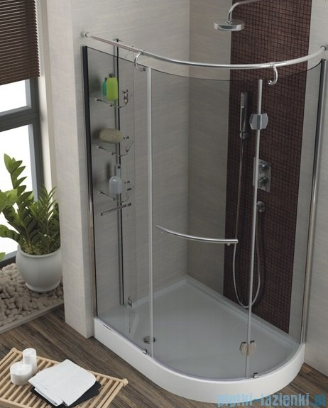 Aquaform Etna kabina prysznicowa 120x85cm prawa szkło grigio+brodzik+syfon 14098