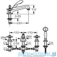 Kludi Adlon Bateria wannowa 4-otworowa DN 15 chrom 515250520