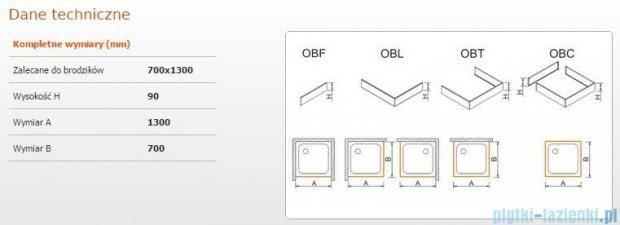 Sanplast Obudowa brodzika OBL 70x130x9 cm 625-400-1160-01-000